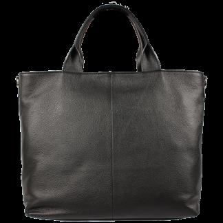 Černá kožená kabelka Perla Nera