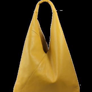 Dámská kožená kabelka přes rameno Alma Gialla Scura