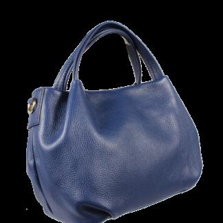Modrá kožená kabelka Tea Blu Scura