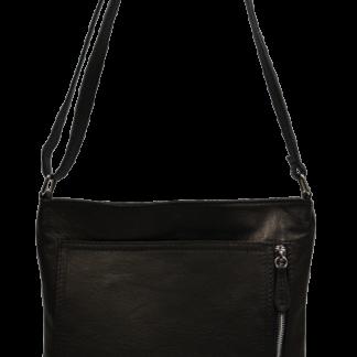 Kožené kabelky crossbody Flora Nera