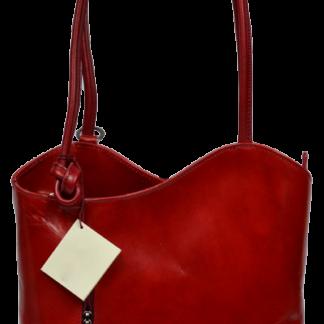 Červené dámské kožené batohy Clarise Rossa