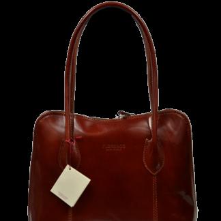 Hnědé kožené kabelky do ruky Palagio Marrone