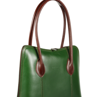 Italské elegantní kabelky Palagio Verde Marrone Scura