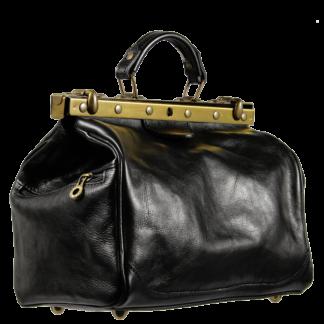 Černá kožená kabelka Regina Nera