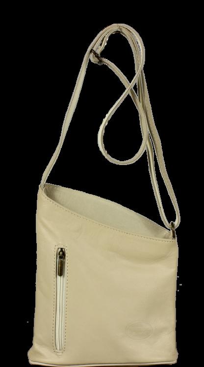 Béžové kabelky přes rameno Angola Beige Luce