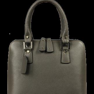 Italské kožené kabelky do ruky Stella Grigia