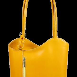 Italská kožená kabelka Clarise Gialla Scura