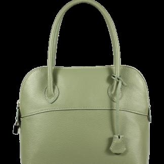Kožená kabelka z Itálie Intorna Verde Chiaro