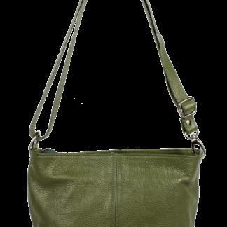Kožená kabelka Batilda Verde Prima