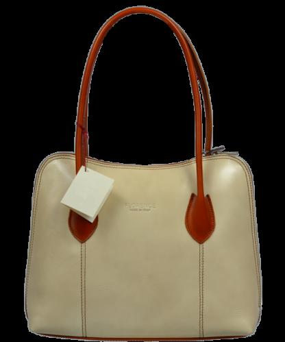 Elegantní kožená kabelka Palagio Beige Camel