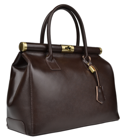 Hnědá kožená kabelka Laureta Cafe Lisciare