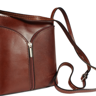 Kožená kabelka z Itálie Lea Cioccolato