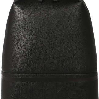 Calvin Klein Batoh 'STRIPED LOGO PU ROUND' černá