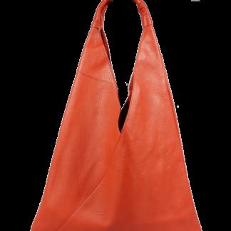 Kožená taška přes rameno Alma Arancione Scura